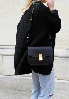 Céline box bag & vintage Levis. By Mija
