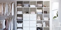 These 20 IKEA storage hacks will help you create more organization and space in your home. Decor, Ikea Diy, Modern Lodge, Closet Hacks, Small Bathroom Organization, Kallax Ikea, Ikea Storage, Wardrobe Organisation, Lodge Decor