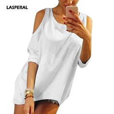 72aba2ba67047 LASPERAL Plus Size 5XL Female T-shirt 2017 Strapless T Shirt Women Tee Off  Shoulder
