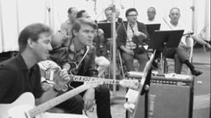 Glen Campbell and James Burton in the studio