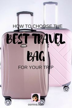 How to Choose the Best Travel Bag for Your Trip. Tips on choosing the best travel bag that suits your travel style and preference. Choose from pre-selected items that you can purchase for yourself or as a gift to a friend, family or partner who loves to t Business Trip Packing, Road Trip Packing, Packing Tips For Vacation, Travel Packing, Business Travel, Packing Hacks, Travel Cot, Backpacking Tips, Packing Lists
