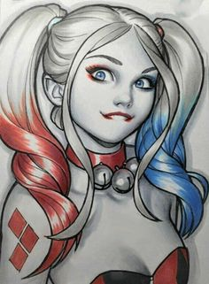 Lil Harley Quinn by Warren Louw Tatuaje Harley Quinn, Harley Quinn Tattoo, Harley Quinn Drawing, Harley Quinn Et Le Joker, Harley Quinn Cosplay, Comics Girls, Dc Comics, Planet Comics, Harley Queen