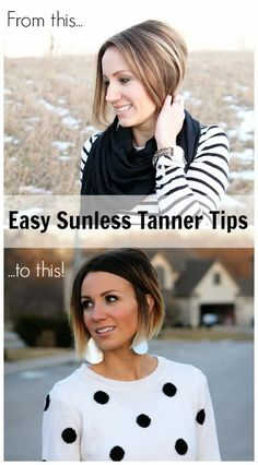 Ok so this is an article about sunless tanning, which is great, but I'm crazy about this girl's hair! The bottom pic is amazing.