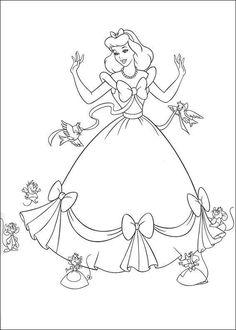 Cinderella Coloring Page 9 Wallpaper