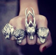 I want the dragon or the wolf. These are awesome