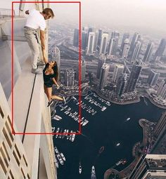 Viki Odintcova death-defying photoshoot on top of one of the world's tallest skyscrapers