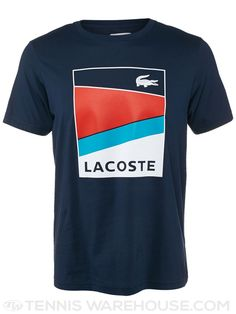 Lacoste Men's Spring Geometric Stripe T-Shirt