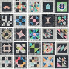 You've found the blocks you're looking for! Find both traditional quilt blocks and fresh designs in the book 25 Patchwork Quilt Blocks by popular blogger Katy Jones.