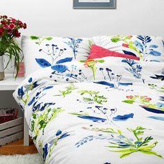 White pocket flower bedding #watercolor