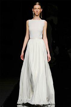 Vestido de novia corte columna Rosa Clará 2012