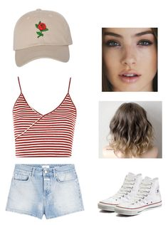 """""""Untitled #40"""" by mmnnww ❤ liked on Polyvore featuring Topshop, Closed and Converse"""