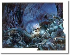 Graeme Base.  1992, 'The Deep' from his book 'The Sign of the Seahorse'. Australian.