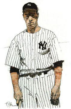 Yankees great Joe DiMaggio by Bart Forbes