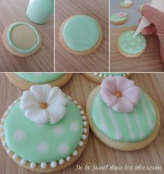 Decorated Sugar Cookies 57943 shortbread with royal icing the tutorial Flower Sugar Cookies, Sugar Cookie Icing, Royal Icing Cookies, Sugar Cookies Recipe, Oatmeal No Bake Cookies, Iced Cookies, Cupcake Cookies, Christmas Baking Gifts, Christmas Cookies Gift