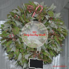 DIY Candy Cane Rag Wreath at http://crtvlsy.ca/2hrMdCA