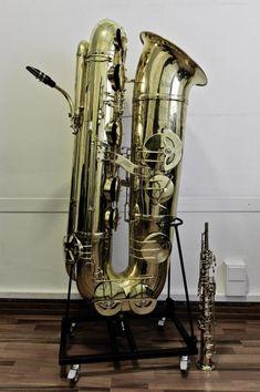 Double Subcontrabass Saxophone | ELLE STAINER Double Bb SUB-CONTRABASS SAXOPHONE