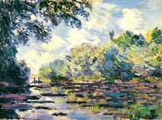 Section of the Seine, near Giverny, 1885 Claude Monet