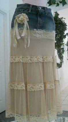 Michelle Ma Belle beige tulle vintage lace by bohemienneivy, $75.00