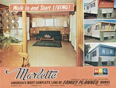 Vintage mobile home ad ♥