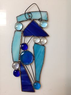 Spontaneous Abstract Stained Glass SunCatcher by glassartstudios