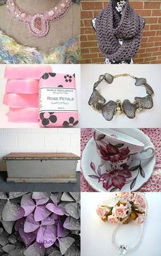 Pearly pink & Gray - by Chicagolandia on Etsy  #etsy #shopping #handmade #gifts #presents #giftguide #womensaccessories #jewelry