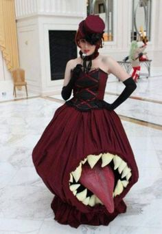 Halloween. This is probably the best dress I've ever seen.