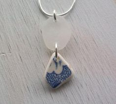 Scottish Sea Glass and Beach Pottery Necklace
