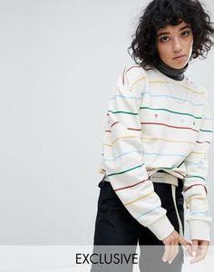 ba4696bb6d5 Puma Exclusive To ASOS Long Sleeve Striped Dream Sweatshirt In White