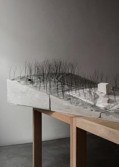 Country House A - Victor Boye Julebæk Maquette Architecture, Landscape Architecture Model, Concept Models Architecture, Landscape Model, Studios Architecture, Architecture Panel, Space Architecture, Architecture Student, Feature Wall Design