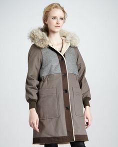 Division Fur-Trim Parka - Neiman Marcus