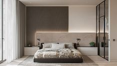 The qualitative design isn't determined with the help of color diversity or texture in one room. Functionality expressed by shape is considered to be a good design. Master Bedroom Interior, Bedroom Furniture Design, Modern Bedroom Design, Home Room Design, Home Interior, Bed Design, Interior Design, Master Bedrooms, Decoration Bedroom