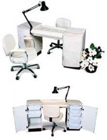 American Beauty Riviera Deluxe Manicure Table For Nail Salons and Spas for 2008