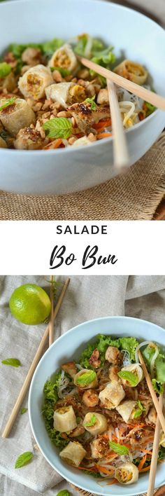 Bo bun au poulet {salade asiatique} - Recette facile - Tangerine Zest - The Best Thai Recipes Chicken Fajita Soup, Vegetable Soup With Chicken, Chicken And Vegetables, Rotisserie Chicken, Soup Recipes, Chicken Recipes, Shrimp Recipes, Copycat Recipes, Bo Bun