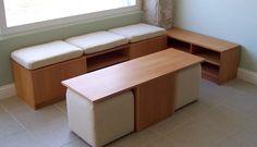 mesa de centro con pouf - Google Search