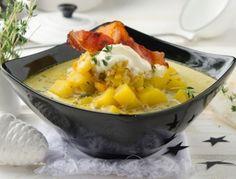 Potato-Vegetable Soup with Black Forest Ham - Erdäpfel-Gemüsesuppe mit Schwarzwälder Schinken - Rezept - ichkoche.at
