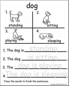 Practice Worksheets with a fun Dog Theme!