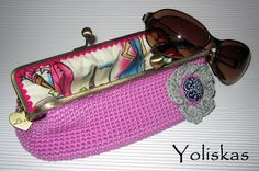 Funda de gafas crochet con boquilla metal ~ Yoliskas