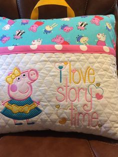Brother Embroidery Machine, Machine Embroidery Projects, Machine Embroidery Applique, Embroidery Ideas, Book Pillow, Reading Pillow, Memory Pillows, Kids Pillows, Diy Throw Blankets