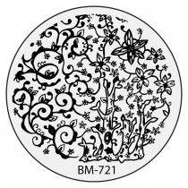 Bundle Monster Nail Stamping Plate 2015 Secret Garden Collection - BM721: Poison Ivy