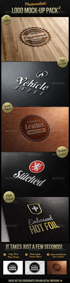Photorealistic Logo Mock-Up Pack 2 - GraphicRiver Item for Sale