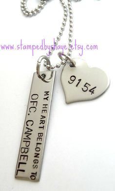 My Heart Belongs to a Police Officer Necklace. I NEED this! <3 Trooper Durrance :)