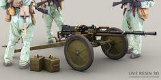 Survival Rifle, Light Machine Gun, Fallout New Vegas, Robot Concept Art, Military Diorama, Diesel Punk, Hand Sketch, Military Weapons, Military Equipment