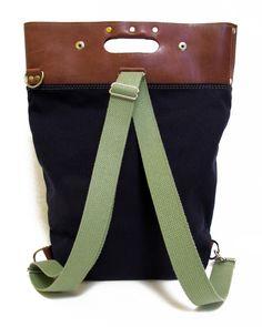 ALVAR bag : waxed canvas and leather bag by xobruno - xobruno