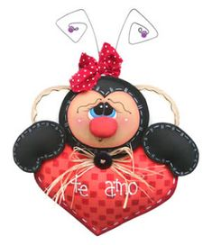 Bug Crafts, Foam Crafts, Diy And Crafts, Valentine Day Love, Valentine Day Crafts, Valentines, Paper Clay, Minnie Mouse, Sewing Projects