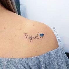 - Tatuagens inspirações name tattoo ideas Sons Name Tattoos, Husband Name Tattoos, Boyfriend Name Tattoos, Daughters Name Tattoo, Name Tattoos For Moms, Baby Name Tattoos, Tattoos With Kids Names, Tattoo For Son, Family Tattoos