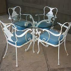 Vintage Grape Wrought Iron Patio Furniture Sets Garden