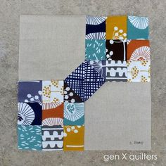 Here is a simple tutorial to make this little block - Scrappy But Classy. It's great for scraps, charm squares or those little bitty bits that you can't bear to throw away. Together the little bits
