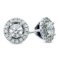 34a7a02e8d6981 I've tagged a product on Zales: Vera Wang LOVE Collection CT. Diamond Frame Stud  Earrings in White Gold
