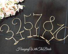 Fil des numéros  mariage rustique  Guest table décor STICK