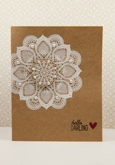 Filigree Hello Darling by cheiron - Cards and Paper Crafts at Splitcoaststampers